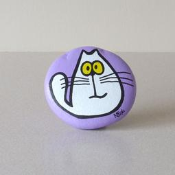 Purple Stone - White Cat