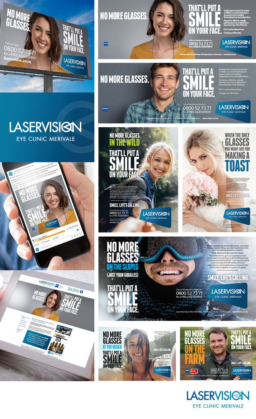 Brand work completed for Laservision Eye Clinic Merivale